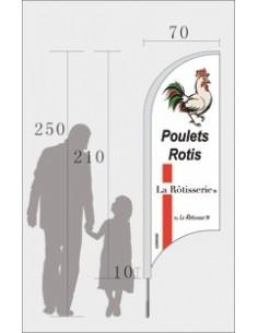 Drapeau Poulets Rotis